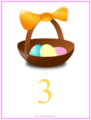 Easter Number 3 Template