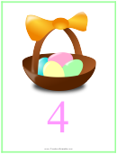 Easter Number 4 Template