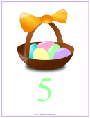 Easter Number 5 Template