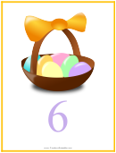 Easter Number 6 Template