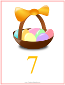 Easter Number 7 Template