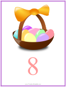 Easter Number 8 Template