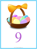 Easter Number 9 Template