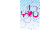 I Heart You Valentine Card Template