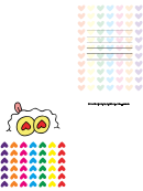Rainbow Hearts Valentine Card Template
