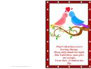 Birds Poem Valentines Card Template