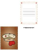 Vintage Brown Valentine Card Template