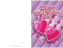 Sparkling Hearts Valentines Card Template
