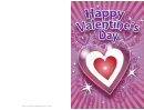 Sparkling Nested Hearts Valentines Card Template