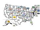 Usa States License Plates Map