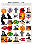 Halloween Memory Game Template