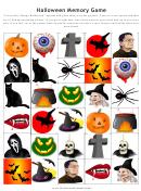 Halloween Memory Game Template