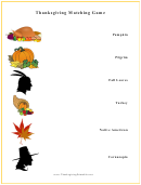 Thanksgiving Matching Game Template