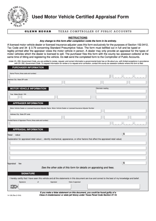 Top Vehicle Appraisal Form Templates Free To Download In