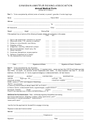 Annual Boxers Medical Form