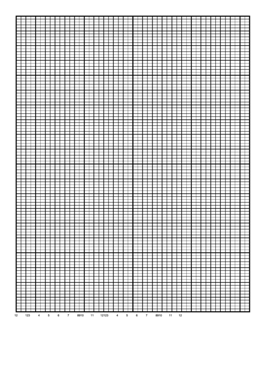 Calendar Graph Paper Template - 1 Day By Half Hour Printable pdf
