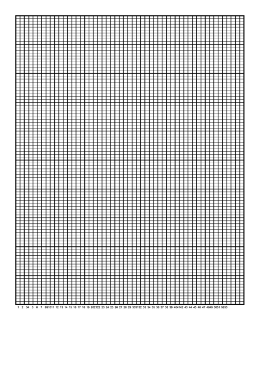 Fillable Calendar Graph Paper Template - 1 Year By Weeks Printable pdf
