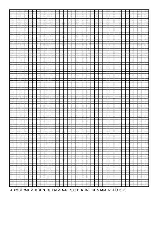Calendar Graph Paper Template - 3 Years By Months Printable pdf