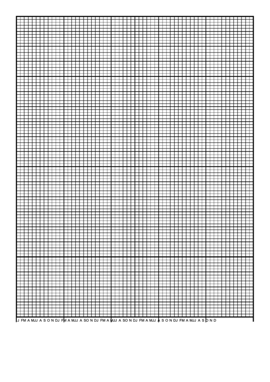 Calendar Graph Paper Template - 5 Years By Months Printable pdf