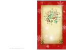 Snowflake Holiday Card Template