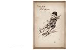 Sledding Happy Holidays Card