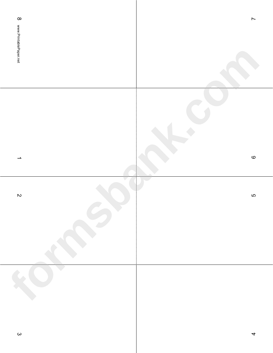 Foldable 8 Page Note Paper Printable Pdf Download