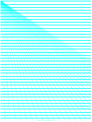 Perspective Graph Paper Template - Left Lines