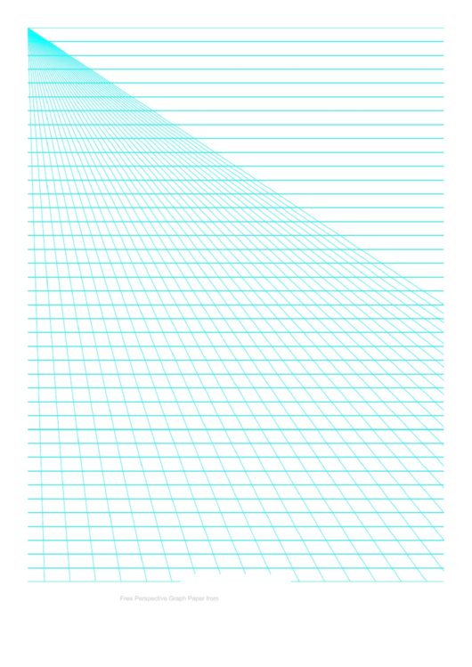 Perspective Graph Paper Template - Left Lines Printable pdf