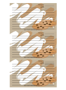 Chocolate Chip Cookies Tan Recipe Template