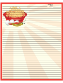 Red Noodles Recipe Card 8x10
