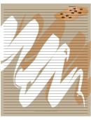 Chocolate Chip Cookies Tan Recipe Card 8x10