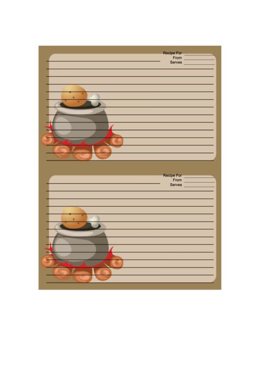 Camp Fire Pot Recipe Card