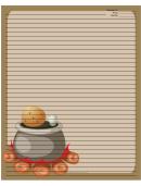 Camp Fire Pot Recipe Card 8x10