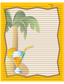Palm Tree Drink Orange Recipe Card 8x10