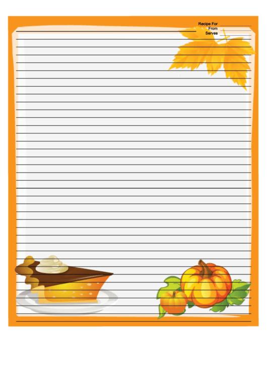Pumpkins Orange Recipe Card 8x10