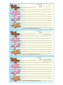 Star Gingerbread Cookies Recipe Card Template