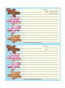 Star Gingerbread Cookies Recipe Card