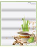 Tea Ginger Green Recipe Card 8x10 Template