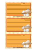 Mushrooms Yellow Gingham Recipe Card Template