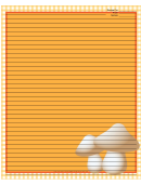 Mushrooms Yellow Gingham Recipe Card 8x10