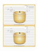 Crockpot Gold Recipe Card Template