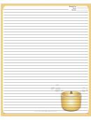 Crockpot Gold Recipe Card 8x10