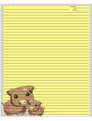Pigs Black White Recipe Card 8x10