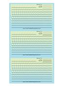 Blue Green Spiral Recipe Card Template