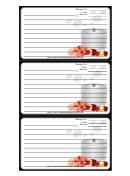 Steaming Pot Black Recipe Card Template