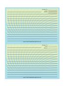Blue Green Spiral Recipe Card