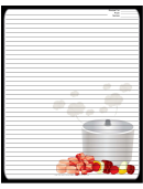 Steaming Pot Black Recipe Card 8x10