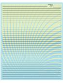 Blue Green Spiral Recipe Card 8x10
