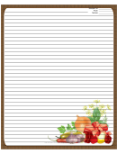 Meat Veggies Herbs Brown Recipe Card 8x10