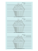 Blue Cupcake Recipe Card Template